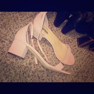 Shoes - Suede pink heels